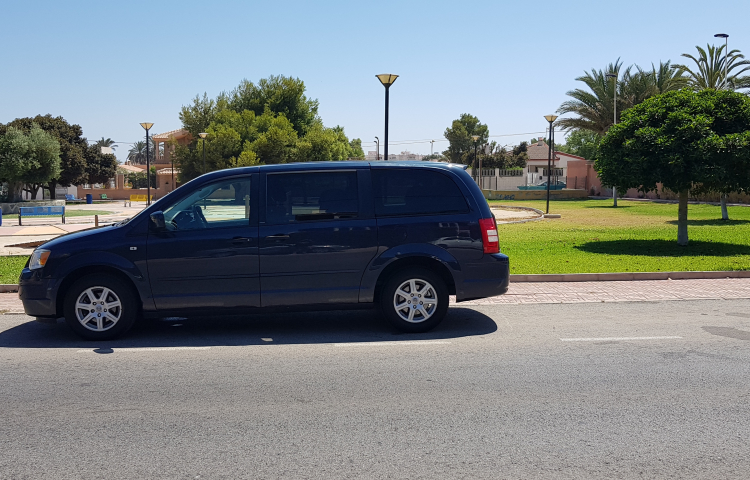 Hire a Chrysler Grand Voyager in Madrid