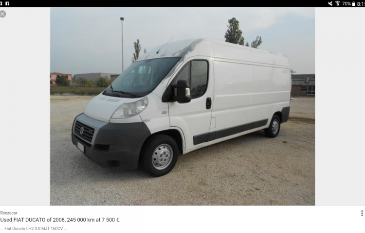 Hire a Fiat Ducato in Torrevieja
