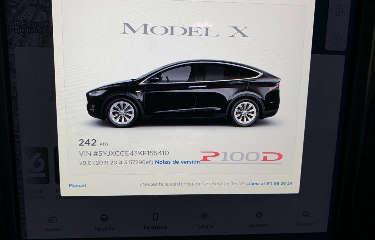 Hire a Tesla Model X 90D in Barcelona